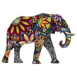 Colorful Paisley Elephant Decal For Your Car Or Truck - Inte