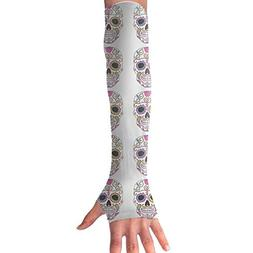Colorful Sugar Mexican Skulls Arm Sleeves UV Protection For