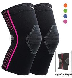 Compression Knee Sleeve for Basketball Knee Brace for Runnin