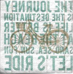 Cypress Home Beverage Napkins Beach Bike Journey 40 Count