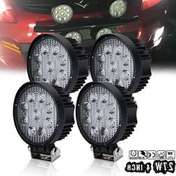 "DOT 4PCS 27W 4"" Inch Round Led Fog Lights Off Road Work Ligh"