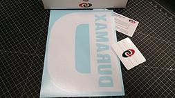 "DURAMAX 9""x12"" Rear Window Decal Kit GLOSS WHITE by Undergro"