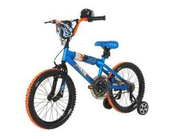 Dynacraft Boys Hot Wheels Bike, Blue/Orange/Black, 18-Inch