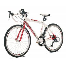 Giordano Libero 1.6 Road Bike, 24-Inch, White/Red