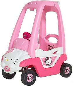 Hello Kitty Push N Play Ride-On, Pink/White/Black