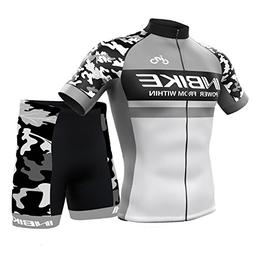 INBIKE Men's Summer Breathable Cycling Jersey and 3D Silicon
