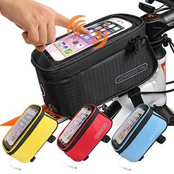 823c1e4dfdb JOY COLORFUL Bicycle Bags Front Tube Frame Cycling Packages