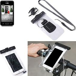 K-S-Trade for LG Electronics L40 Bicycle Bracket Mobile Phon