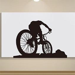 Kezhy Fashion Boy Riding A Mountain Bike Modern Wall Stick T