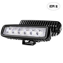 Nilight Led Light Bar 2PCS 18w Spot Driving Fog Light Off Ro
