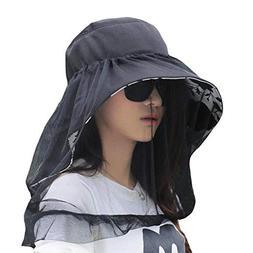 Outdoor Cycling Sunscreen Hat Beach Fashion Veil Sunhat for