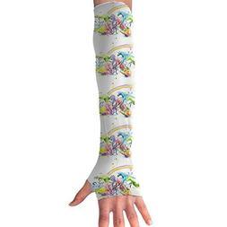 Rainbow Unicorn Slam Arm Sleeves UV Protection For Men Women