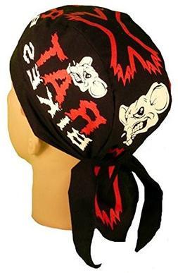 Red White Black Rat Bikes Biker Durag Head Wrap Bandanna Mad