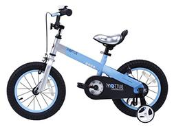 "RoyalBaby CubeTube Matte Buttons 14"" Bicycle for Kids, Blue"