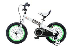 """RoyalBaby CubeTube Buttons 16""""  Bicycle for Kids, Green"""