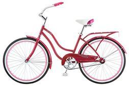 Schwinn Girl's Cruiser Bike, 24-Inch, Pink