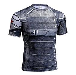Super Hero Costume Compression T-Shirt Tight Cycling Clothes