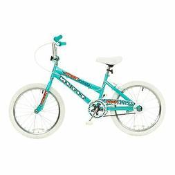 Titan Tomcat 20-Inch Wheel Girls BMX Bike with Pads, Teal Bl