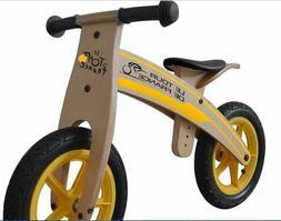 Tour de France Wood Running/Balance Bike, 12 inch Wheels, Ki