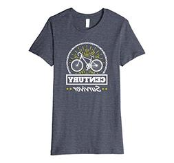 Womens Cycling Century Tee Shirt -- Century Survivor XL Heat