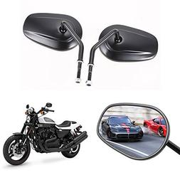 Anfan Adjustable Matte Motorcycle Rear View / Side Mirror -