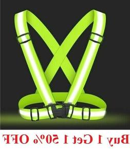 Adjustable Safety Reflective Vest Belt Stripe Strap Night Ru
