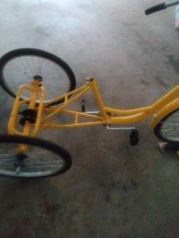 """Adult 7-Speed Adult 24"""" 3-Wheel Tricycle Trike Bicycle Bike"""