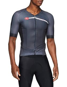 Castelli Aero Race 5.1 Full Zip Jersey - Men's Anthracite/Wh