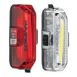 Topeak Aero USB Combo Front Light & Rear Light