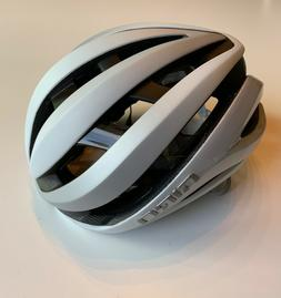 Giro Aether MIPS Matte White Silver Road Bike Helmet Size Me