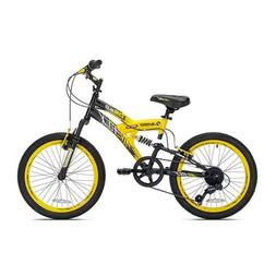 "20"" Boys Avigo Air Flex Dual Suspension - Yellow Black - Bal"