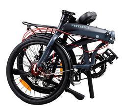 Camp Adult Folding Bike for Men Women 20 inch Aluminum 16 Sp