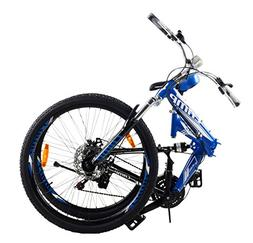 "Camp 26"" Alloy Folding Mountain Bike Shimano 21 Speed Dual S"