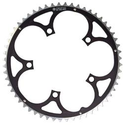 Origin8 Alloy Ramped Chainrings, 130mm x 56t, Black/Silver