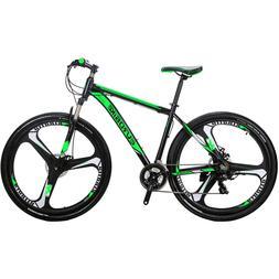 "Aluminium Mountain bike 29"" Shimano 21 Speed mag wheels mens"