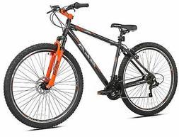 "Aluminum Mountain Bike 29"" 21 speed Gray Men Bicycle Disc Br"