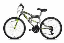 aluminum suspension mountain bike