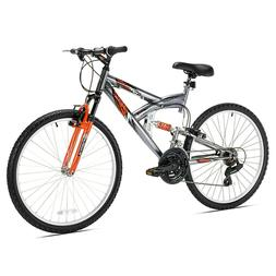 Northwoods Aluminum Full Suspension Mountain Bike, 26-Inch,