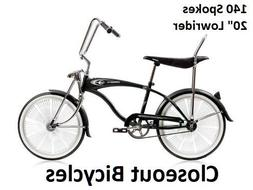 "140 Fan Spoke 20"" Lowrider Bicycle Any Color!"