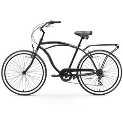 sixthreezero Around The Block Men's 7-Speed Cruiser Bicycle,