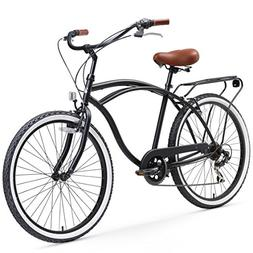 sixthreezero Around The Block Men's 7-Speed Cruiser Bicycle,