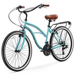 sixthreezero Around The Block Women's 21-Speed Cruiser Bicyc