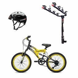 Kent Bikes Avigo Air Flex Steel 20 Inch Boys BMX Bike & 4 Bi