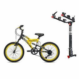 Kent Bikes Avigo Air Flex Steel 20 Inch Boys BMX Bike & 3 Bi