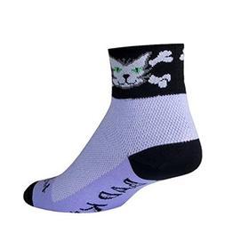 """SockGuy, Classic Bad Kitty Womens Socks, cuff height 2"""", siz"""