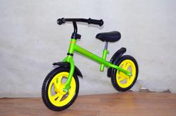 New 12 Inch Childrens Balance Bike No Pedal Push Bicycle for