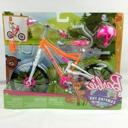 BARBIE Camping Fun Bicycle Bike and Accessories Mattel Toy