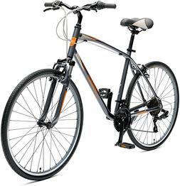 Critical Cycles Men's Barron Hybrid 21 Speed Bike, Graphite/