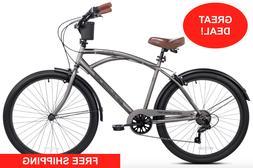 "Kent Bayside Cruiser Bike Men 26"" Comfort Beach City Commu"