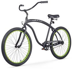 Mens Beach Cruiser Bicycle 26 Inch Bike Single Speed Summer